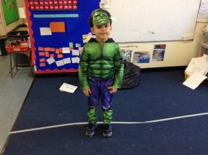 """""""I will squash the peas"""" said Hulk."""